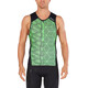 2XU Perform Tri Singlet Men black/geo neo green